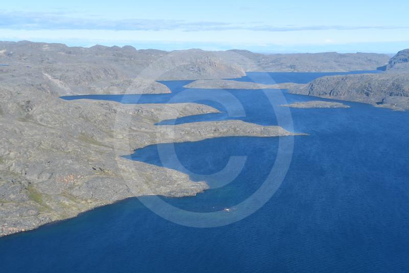 (2182)  Rocky shores of Nettilling Fjord