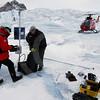 (307) Weather station installed on the Devon Ice Cap, Ellesmere Island, Nunavut