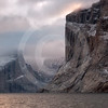(131) Cliffs in Baffin Island fjord