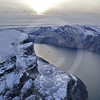 (215) The CCGS Amundsen sailing the majestic Gibbs Fjord, Baffin Island, Nunavut