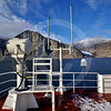 (267) The CCGS Amundsen sailing the majestic Gibbs Fjord, Baffin Island, Nunavut