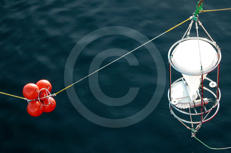 (50) Mooring being deployed from the CCGS Amundsen
