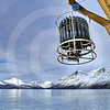 (188) Deployment of the rosette in Saglek Fjord, Labrador