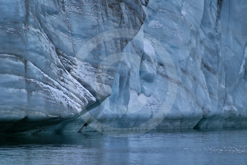 (241) Glacier flowing into Makinson Inlet, Ellesmere Island, Nunavut