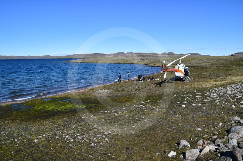 (2180) Lake sampling near Nettilling Lake