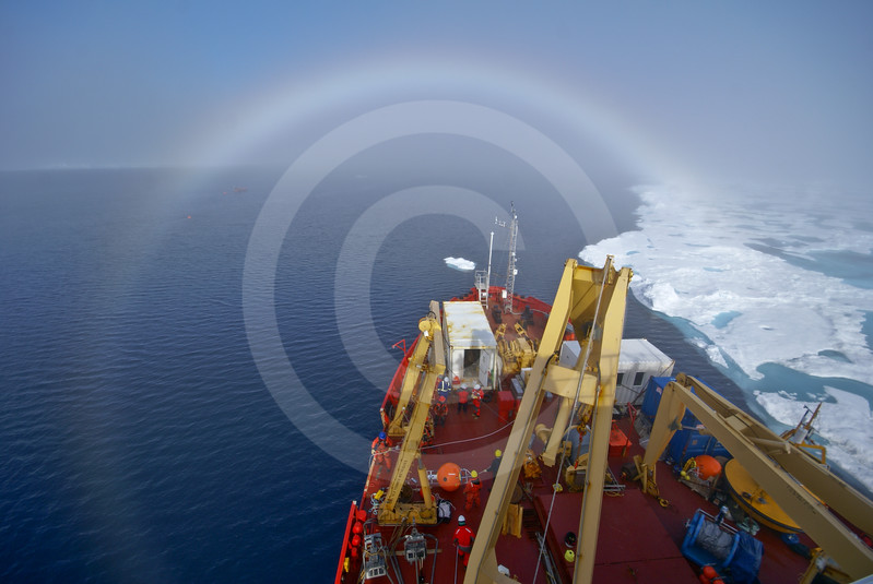 (570) Deployment of an ArcticNet oceanographic mooring from the CCGS Amundsen in the Beaufort Sea