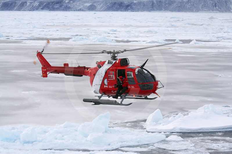 (192) Coast Guard helicopter with film crew