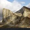(136) Cliffs in Baffin Island fjord