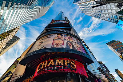Champs Sports Bar Times Square NYC