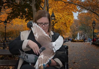 Pigeon Lady, Washington Square Park, NYC