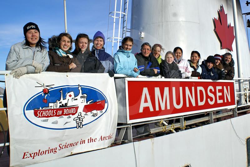 (314) Schools on Board participants on board the CCGS Amundsen