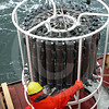 (44) Crew member of the CCGS Amundsen deploying the rosette
