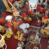 (26) Scientists and crew members preparing to deploy a mooring