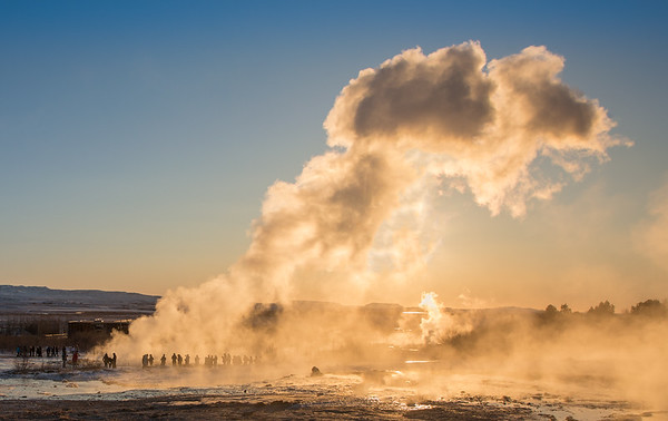 Power & Scale of Hot Spring Eruption