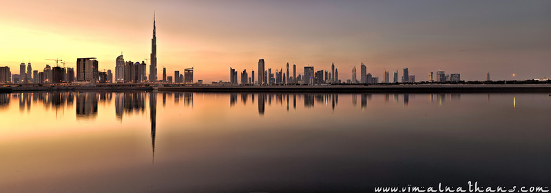 Burj Khalifa Reflection, Sheikh Zayed Road Reflection, Dubai, UAE, Vimal Nathan Photography, Nikon D700