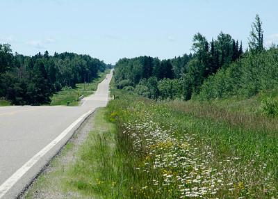Highway 5 north of Effie, MN