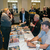 Cornelia discusses with MR OCEAN LINER Bill Miller, who was there selling & signing books.