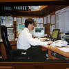 Ben's picture (I shot from his monitor) of him working in his office on QM2. <br /> OLYMPUS DIGITAL CAMERA
