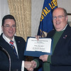 I just was given an award for service for all the things I've done for my Civil War group. 12/2014
