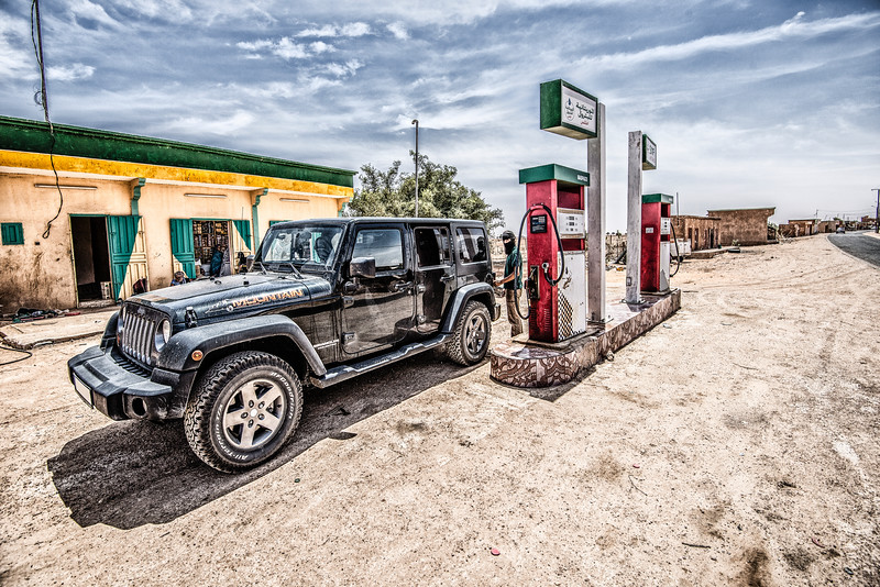 Getting some Diesel in Mauritania