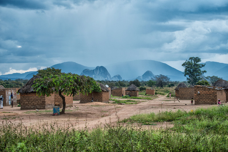 Rains coming in Angola's countryside.