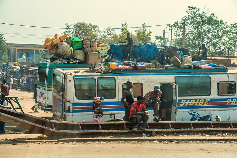 Waiting for bus in Bamako. Mali.