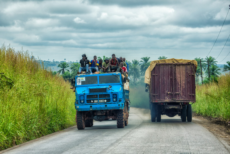 After FEW thousands km of complete OFF-road driving in Gabon and Congo RC, we hit tar road in Congo DRC. We almost start to kiss TAR!