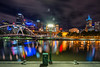 Night in Melbourne. Australia.