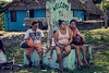 Waiting for bus in Belize