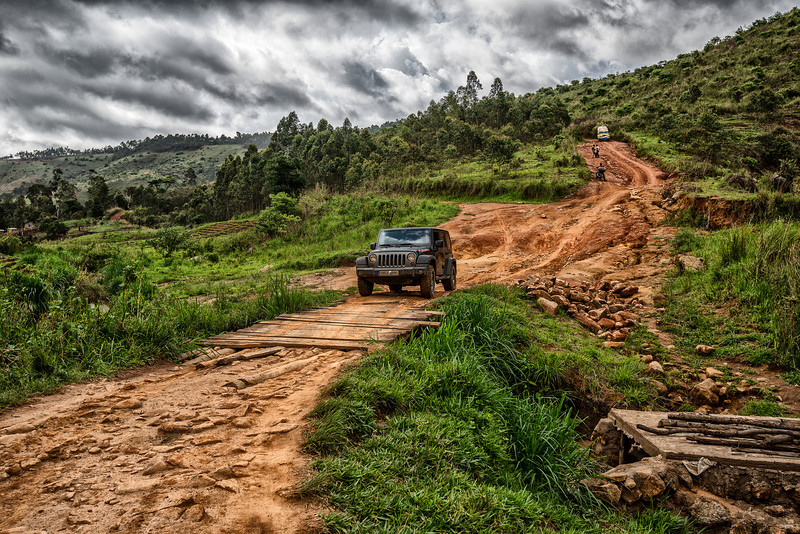 500 km across Cameroon mountains