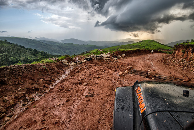 Looking for way out from Cameroon mountains and escape the rain.