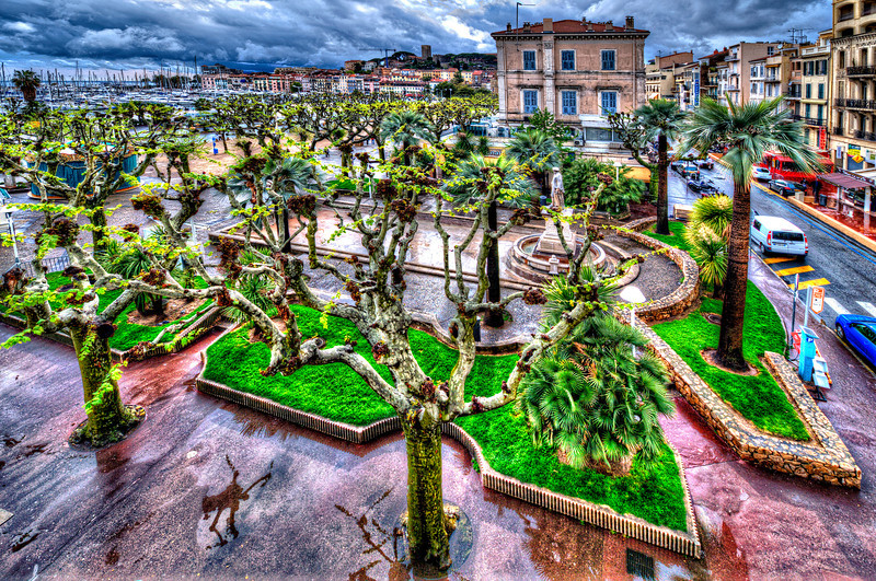 Cannes after rain. France. <br /> <br /> One of my favorites city for many years.