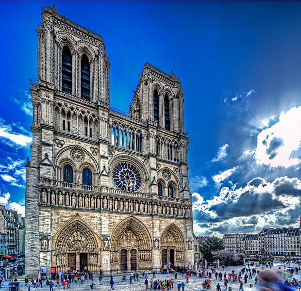 Notre Dame de Paris attacked by ants.