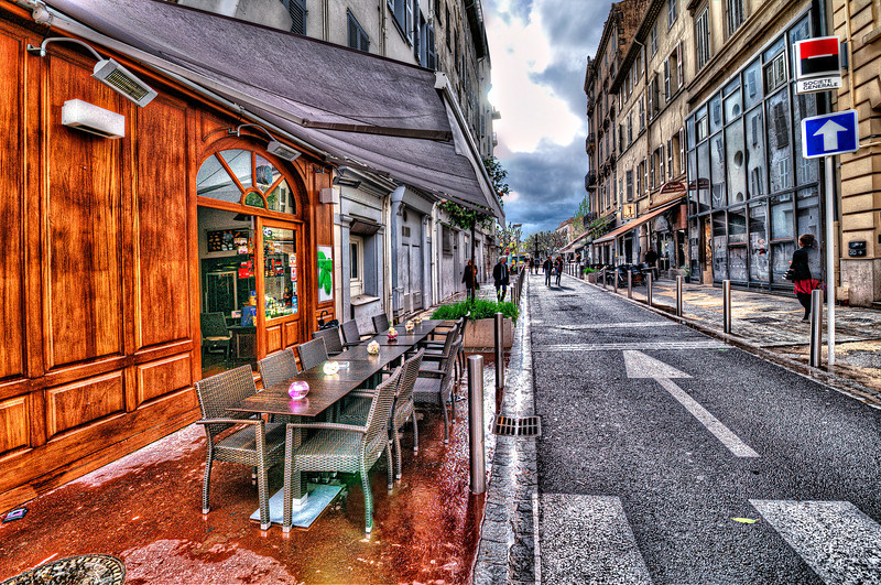Rainy Cannes. France