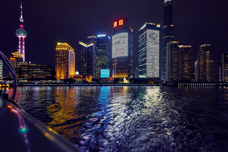 Night ride. Shanghai. China.