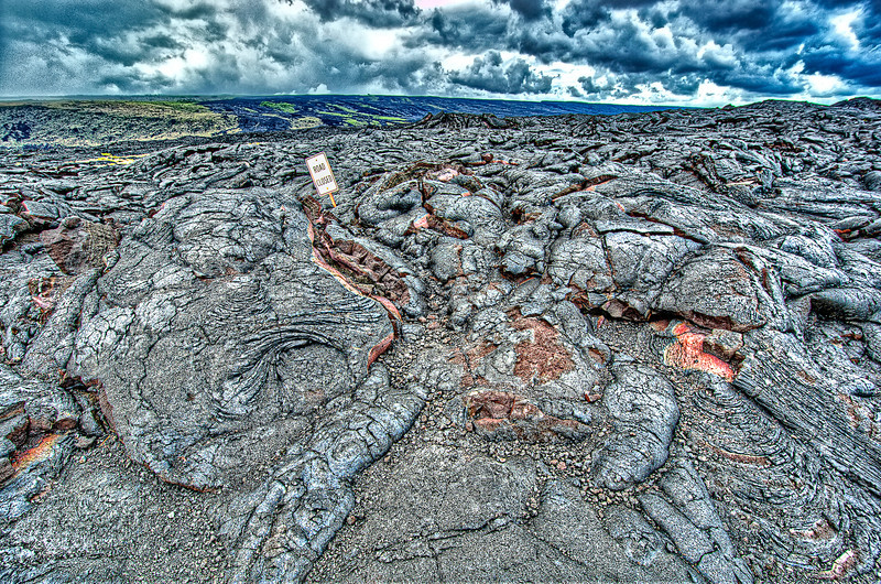 Lost in lava flow.<br /> 2 villages lost here 20 years ago.<br /> Hawaii, Big Island.