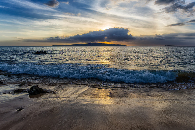 Sunset over Lanai island