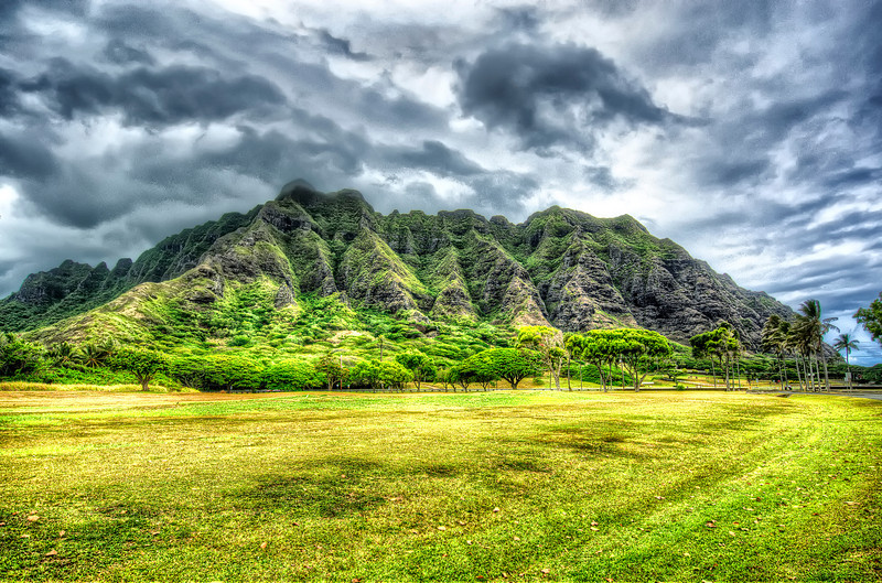 O'ahu. <br /> Unique landscape.