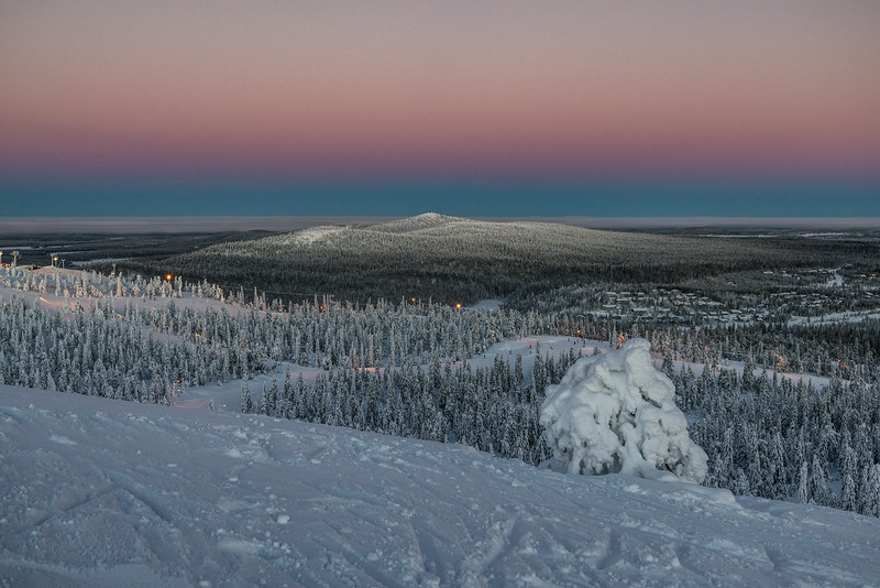 Endless evening in Finland