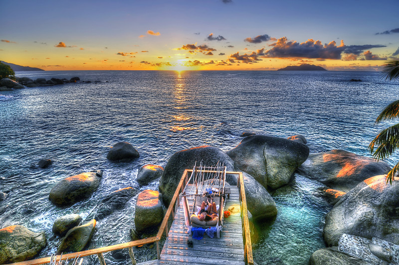 Jus't the sunset in Seychelles
