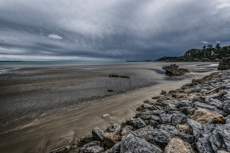 Low tide in New Zealand