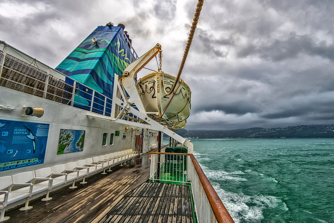 Stormy weather between Picton and Wellington