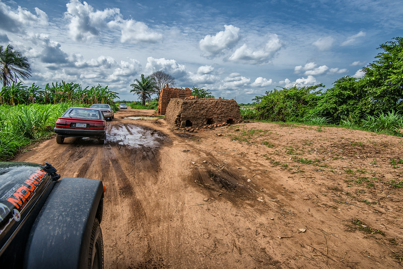 Looking for the road. Trying to get from Nigeria to Cameroon. Africa overland.
