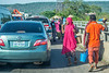 Traffic and sellers. Life in Abuja. Nigeria.