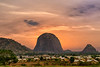 Hello Zuma Rock! World 2th largest rock is Nigeria's answer to Australia's Uluru rock. Sunset over Zuma Rock. Abuja.