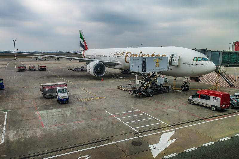 On the way from WAW to DXB