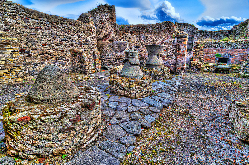 Burned alive 2000 years ago. Pompei city.<br /> <br /> Bakery