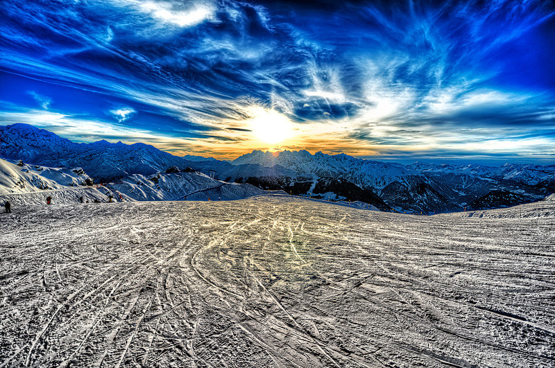 Sunset in Verbier, Switzerland
