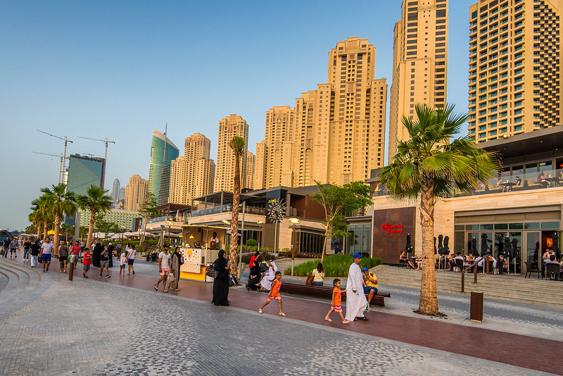 Sunset, Jumeirah, The Cheesecake Factory, Happy people . Dubai wants to be world's happiest city... and will be.