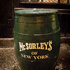 mcSorley's beer barell.